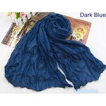 Echarpe Lenço Cachecol Echarpe Azul Escuro