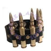 Bracelete Com Replica De Balas E Rebites Metal Rock´n´roll