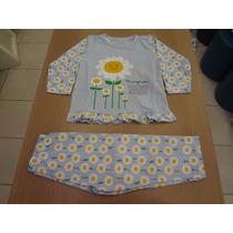 Pijama Cara De Criança Blusa Meia Malha + Calça. Tam: 2,3.