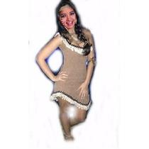 Fantasia Índia Americana Pocahontas Luxo G (8 A 10 Anos)