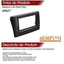 Moldura Painel Dvd 1 E 2 Din Fiat Stilo + Porta Objetos