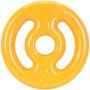 Anilha 2 Kg Emborrachada Vazada Amarelo Musculação Fitness