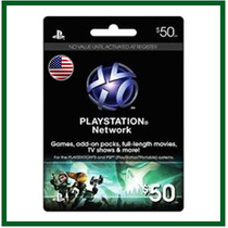 Playstation Network Card - $50 -psn - Entrega Imediata