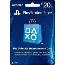 Cartão Psn Playstation Network $20 Usd Dolar Envio Já!!!