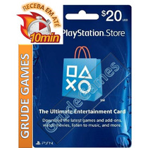 Cartão Psn Playstation Network Card $20 Usd Dolar