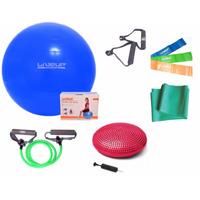 Kit Yoga Pilates C/ 10 Itens Bola, Thera Band Disco Extensor