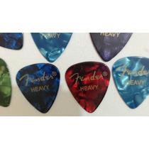 Kit 7 Palhetas Fender Heavy + Frete Gratis