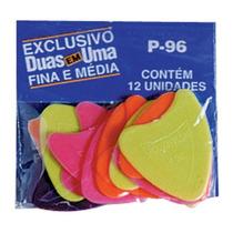 Palheta 2 Em 1 P96 Colorida 12pçs Rouxinol