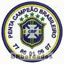 Patch Bordado Tpc054 Penta Campeão Escudo Símbolo Brasão Tag