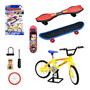 Bicicleta E Skate De Dedo Com Acessórios Frete Grátis