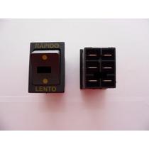 Botão Interruptor Rápido / Lento Bandeirantes Moto Elétrica