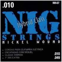 Cordas De Guitarra Nig Nh-67 Hybrid Glass +1ªextra + Palheta