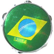 Pele Para Pandeiro 10 Polegadas Luen Bandeira Do Brasil