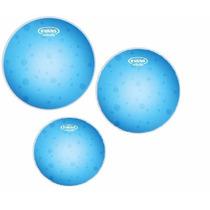 Kit De Pele Evans Hidráulica Azul 10 12 14 16 Hydraulic Blue