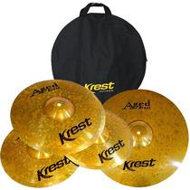 Kit Pratos Krest Aged Brass 14/16/20 Com Bag !!!