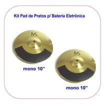 Kit 2 Pad Bateria Eletrônica Yamaha Roland Staffdrum Chelter