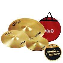 Kit Prato Bateria Orion Twister Twr75 13 16 18 + Bag L O J A