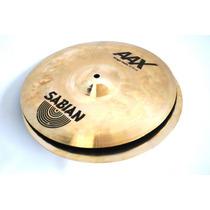 Par De Pratos Bateria Chimbal Sabian Aax Stage Hats 13