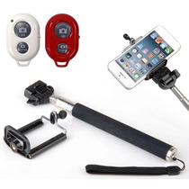 Kit Selfie Controle Bluetooth Bastão Monopé Adaptado Celular