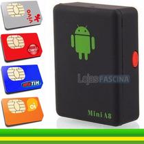Mini A8 Com Escuta Espiã Localizador Gps Gsm Gravador Moto