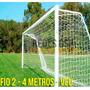 Par Rede Gol Futebol Society Fio 2mm - 4 Metros - Véu