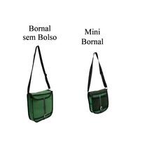 Bornal Sem Bolso + Mini Bornal Em Lona
