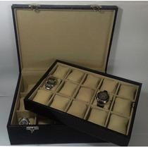 Estojo 30 Relógios Revestido De Courvin, Frete Grátis !!!