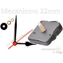 Kit Maquina Relógio Quartz Tic Tac Eixo 22mm E Ponteiros Gr