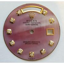 Mostrador Rolex Daydate Madre Perola Com Diamantes 18038