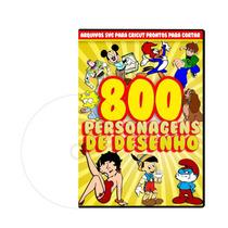 800 Personagens De Desenho Animado Para Silhouette Cameo