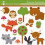 Kit Scrapbook Digital Animais Da Selva 10 Imagens Clipart