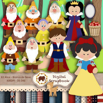 Kit Scrapbook Digital - Branca De Neve (clipart)