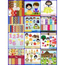 12 Kits Scrapbook Digital Branca De Neve -frete Gratis