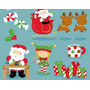 20 Kits Scrapbook Digital Natal Papai Noel Boneco De Neve