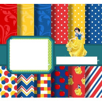 Kit Scrapbook Digital Branca De Neve