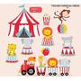 Kit Scrapbook Digital Circo Palhaços 3 Imagens Clipart