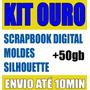 Scrapbook Digital Minnie E Mickey + Kit Ouro