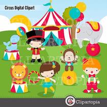 Kit Scrapbook Digital Circo Palhaços Imagens Clipart