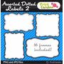 Kit Scrapbook Digital Frames Molduras Quadros Labels 61