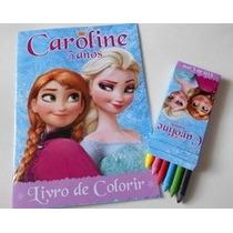 20 Kit Colorir Todos Temas Peppa, Frozen, Herói, Carros Etc