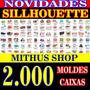 Kit +2000 Silhouette Caixas E Embalagens