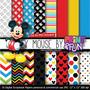 Kit Duplo Papel Scrapbook Digital Mickey E Minnie - Ml07