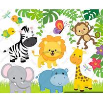 50 Kits Scrapbook Digital Fazendinha Safari Jardim Coruja