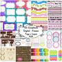 100 Kits Scrapbook Digital Frames E Tags | Envio Por Email.