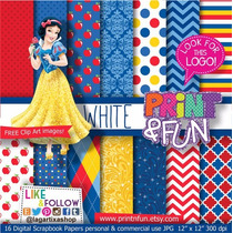 Branca De Neve - Kit Digital Para Scrapbook