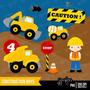Kit Scrapbook Digital Construtor Caminhões 2 Imagens Clipart