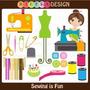 Kit Para Scrapbook Digital Costura #2