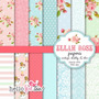 Kit Scrapbook Digital Papéis Shabby Chic
