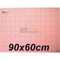 Base De Corte Rosa Para Patchwork - 90x60cm - Dupla Face