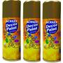 Kit C/ 3 Tinta Spray Decor Paint 150ml Ouro Acrilex